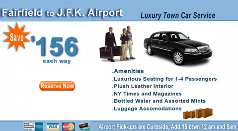 Fairfiled to jfk airport Town car and Limo service