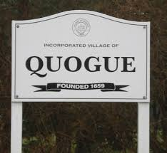 quogue lim welcome sign